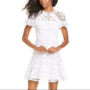 NWT Sandro Corentin Eyelet Lace Cotton Mini Dress